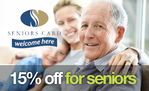 15% off for seniors
